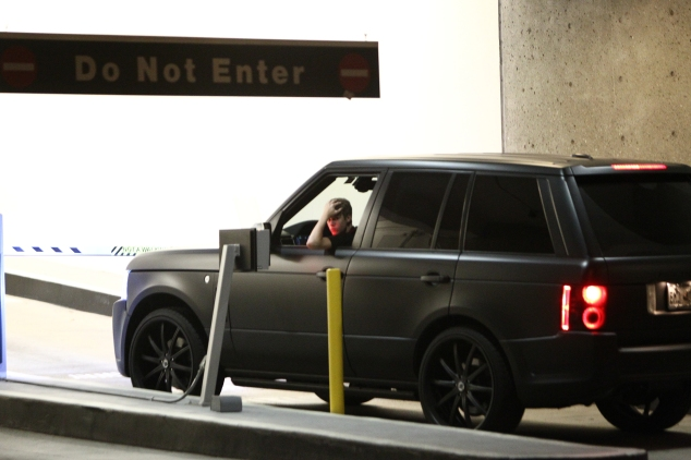 Justin Bieber's Murdered Out Rover
