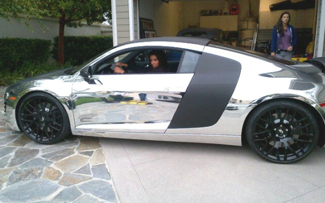 Kim Kardashian In An R8-shaped Mirror