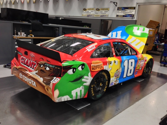 Kyle Busch's paint scheme scheduled to run at Pocono in August and New Hampshire in Sept  Photo - Joe Gibbs Racing