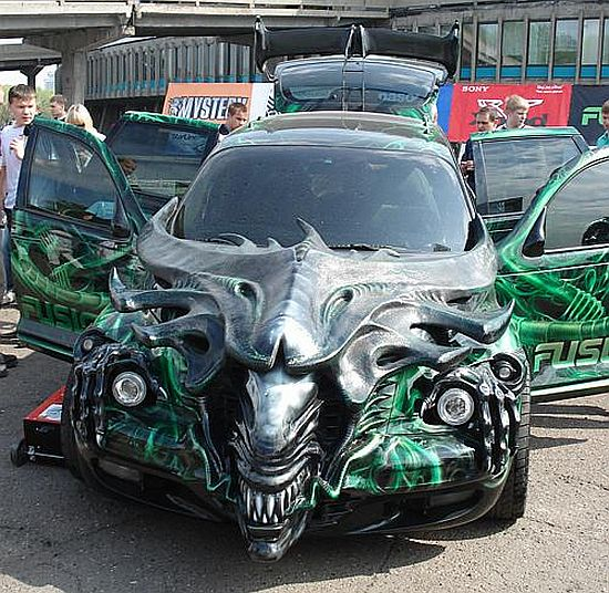 H.R. Giger Inspired Car Art
