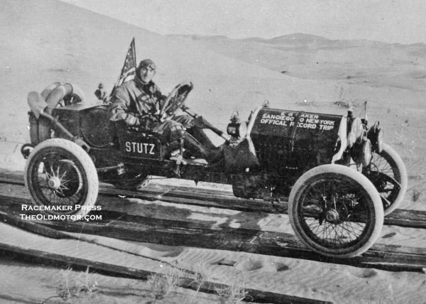 "1915 Erwin ""Cannon Ball"" Baker and his Stutz Bearcat"