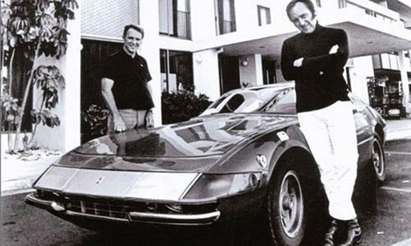 Brock Yates and Dan Gurney and the 1971 Record Ferrari 365 GTB 4