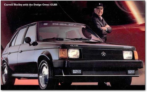 Carroll Shelby & The 146-bhp Dodge Omni GLHS