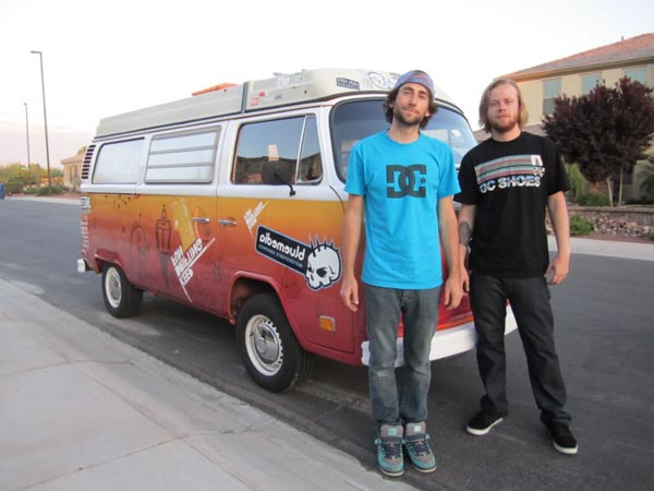 Joshua Herron and Will Roegge with Will's 1974 Volkswagen Westfalia van