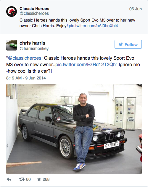 Chris Harris - BMW E30 M3 EVO