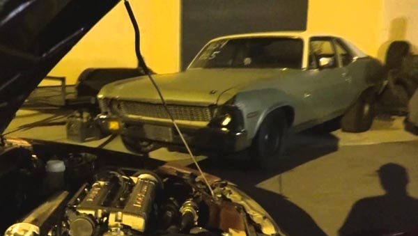 "Sinister looking Chevy Nova ""The Trash Can"""